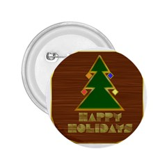 Art Deco Holiday Card 2.25  Buttons