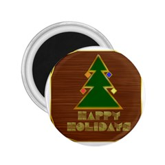 Art Deco Holiday Card 2 25  Magnets