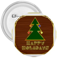 Art Deco Holiday Card 3  Buttons