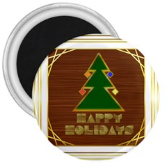 Art Deco Holiday Card 3  Magnets
