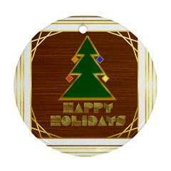 Art Deco Holiday Card Ornament (round)