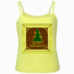 Art Deco Holiday Card Yellow Spaghetti Tank