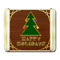 Art Deco Holiday Card Large Mousepads