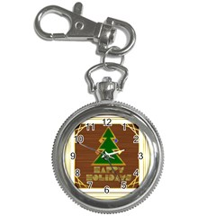 Art Deco Holiday Card Key Chain Watches