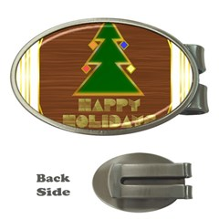 Art Deco Holiday Card Money Clips (Oval)