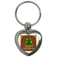 Art Deco Holiday Card Key Chains (heart)