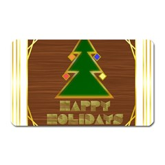 Art Deco Holiday Card Magnet (rectangular)