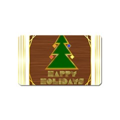 Art Deco Holiday Card Magnet (name Card)