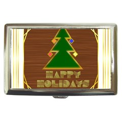 Art Deco Holiday Card Cigarette Money Cases