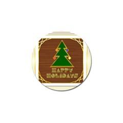 Art Deco Holiday Card Golf Ball Marker