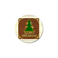 Art Deco Holiday Card Golf Ball Marker (10 Pack)
