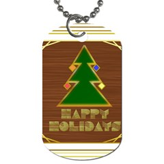 Art Deco Holiday Card Dog Tag (two Sides)
