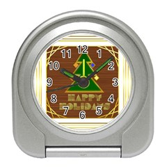 Art Deco Holiday Card Travel Alarm Clocks