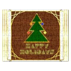 Art Deco Holiday Card Rectangular Jigsaw Puzzl