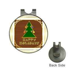 Art Deco Holiday Card Hat Clips With Golf Markers