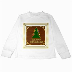 Art Deco Holiday Card Kids Long Sleeve T Shirts