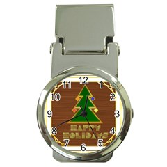 Art Deco Holiday Card Money Clip Watches