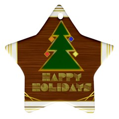 Art Deco Holiday Card Star Ornament (Two Sides)