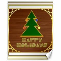 Art Deco Holiday Card Canvas 12  X 16