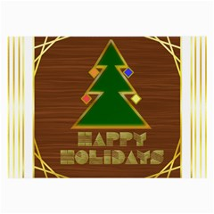 Art Deco Holiday Card Large Glasses Cloth