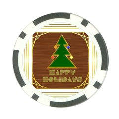 Art Deco Holiday Card Poker Chip Card Guards