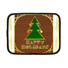 Art Deco Holiday Card Netbook Case (Small)