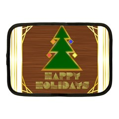 Art Deco Holiday Card Netbook Case (medium)