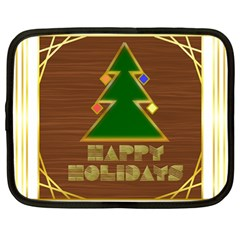 Art Deco Holiday Card Netbook Case (large)