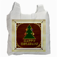 Art Deco Holiday Card Recycle Bag (two Side)