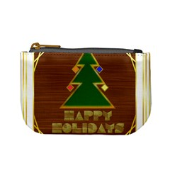 Art Deco Holiday Card Mini Coin Purses