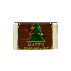 Art Deco Holiday Card Cosmetic Bag (small)