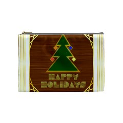 Art Deco Holiday Card Cosmetic Bag (medium)