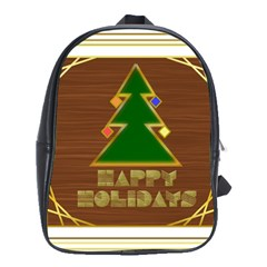 Art Deco Holiday Card School Bags(large)