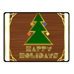 Art Deco Holiday Card Fleece Blanket (small)
