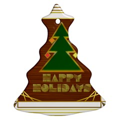 Art Deco Holiday Card Christmas Tree Ornament (2 Sides)