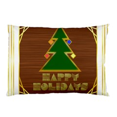 Art Deco Holiday Card Pillow Case (two Sides)