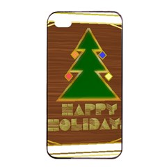 Art Deco Holiday Card Apple Iphone 4/4s Seamless Case (black)