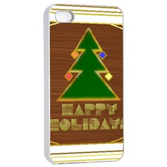 Art Deco Holiday Card Apple Iphone 4/4s Seamless Case (white)
