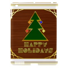 Art Deco Holiday Card Apple Ipad 3/4 Hardshell Case (compatible With Smart Cover)