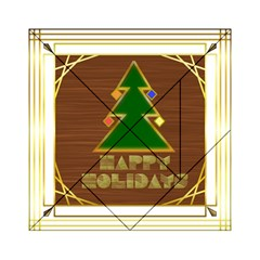 Art Deco Holiday Card Acrylic Tangram Puzzle (6  X 6 )