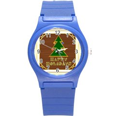 Art Deco Holiday Card Round Plastic Sport Watch (s)