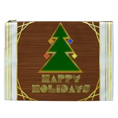 Art Deco Holiday Card Cosmetic Bag (xxl)