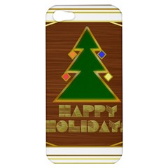 Art Deco Holiday Card Apple Iphone 5 Hardshell Case