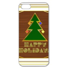 Art Deco Holiday Card Apple Seamless Iphone 5 Case (clear)