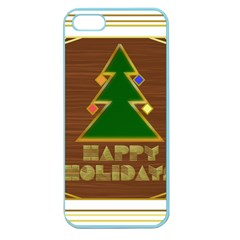 Art Deco Holiday Card Apple Seamless Iphone 5 Case (color)