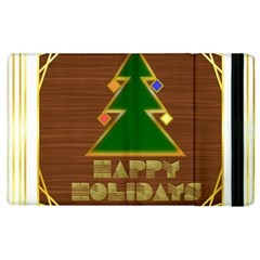 Art Deco Holiday Card Apple Ipad 3/4 Flip Case