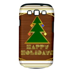 Art Deco Holiday Card Samsung Galaxy S Iii Classic Hardshell Case (pc+silicone)
