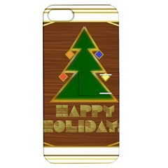 Art Deco Holiday Card Apple Iphone 5 Hardshell Case With Stand