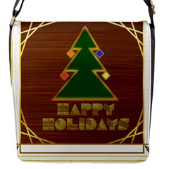 Art Deco Holiday Card Flap Messenger Bag (s)