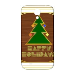 Art Deco Holiday Card Samsung Galaxy S4 I9500/i9505  Hardshell Back Case
